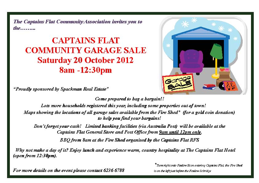 Captains Flat Community Garage Sale