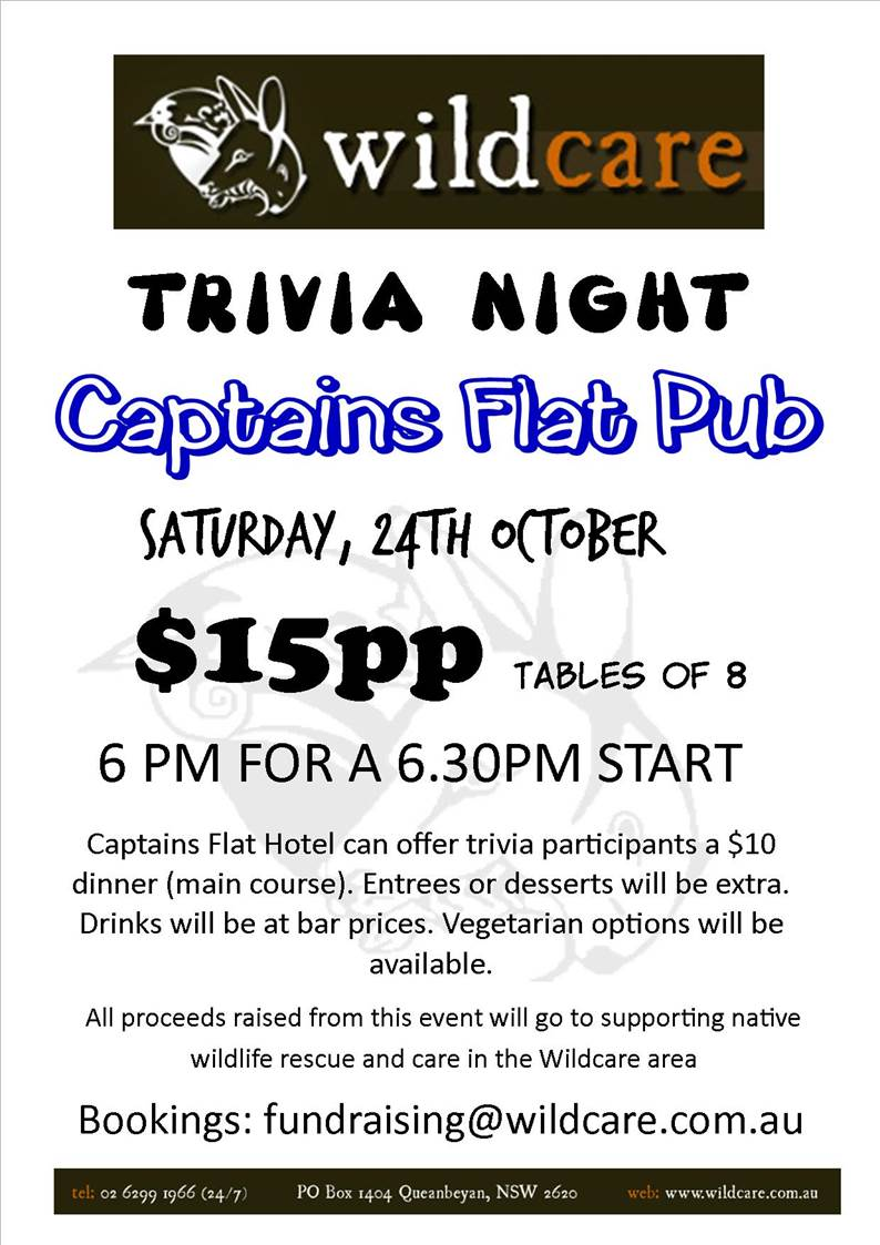 Wildcare Trivia Night